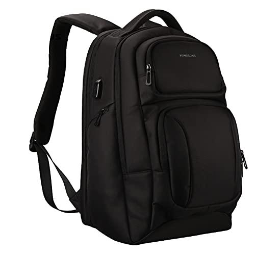 Kingsons Mochila Backpack Antirrobo USB Impermeable Moda Ergonómica
