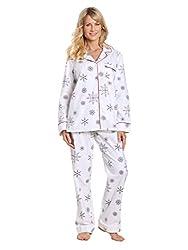 Noble Mount Women s Premium 100% Cotton Flannel Pajama 2786862a9