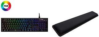 HyperX Alloy FPS RGB - Mechanical Gaming Keyboard and HyperX Wrist Rest - Cooling Gel - Memory Foam