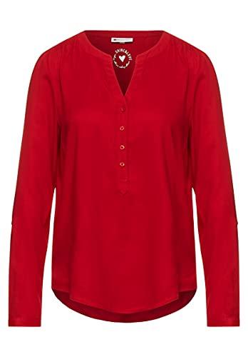 Street One Damen Bamika Bluse, Full red, 42