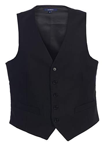 Gioberti Mens Formal Suit Vest, Black, Small