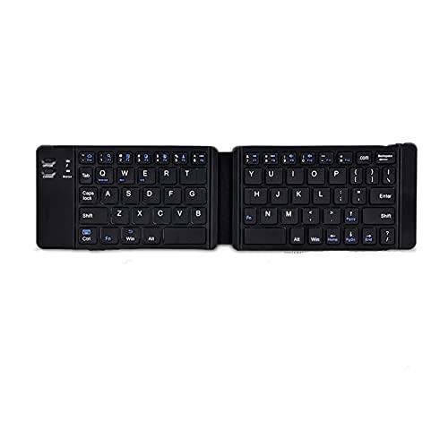 Mmbh Teclado de Bluetooth inalámbrico de Teclado Plegable con touchpad Adecuado para...