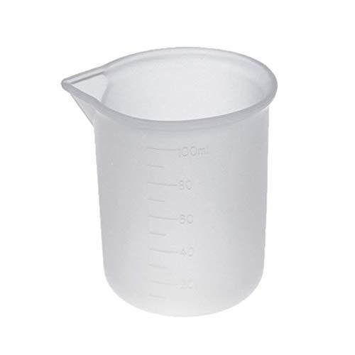 baytronic 220062 Silikon Messbecher, transparent, 100 ml