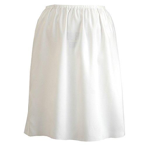 Felice 丈が選べる透けないペチコート 日本製 オフホワイト Mサイズ 50cm丈