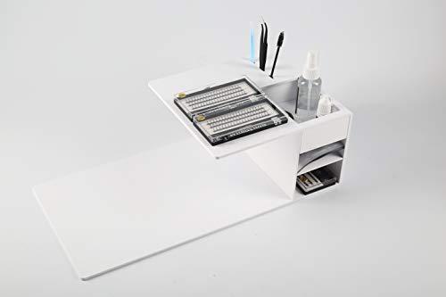 PRASNE Eyelash Extension Shelf, Acrylic Eyelash Pillow Lash Grafting Slot Tool Shelf For Eyelash Beauty Make Up - White
