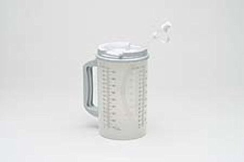 1 X Medegen Roommates Pitcher Insulated W/Straw Translucent W/Granite And Handle 32 Oz - Model h206-01