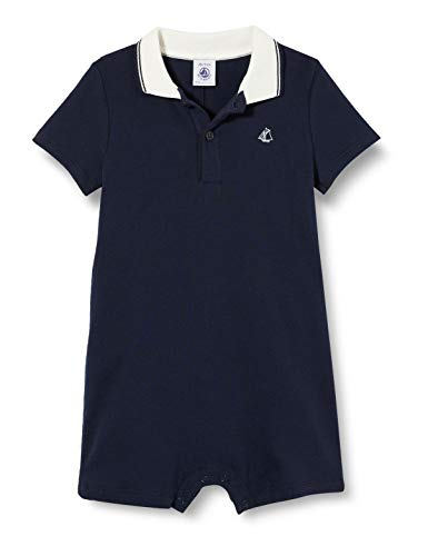 Petit Bateau Jungen 5363903 Jumpsuit, Blau (Smoking 184), 12-18 (Herstellergröße: 18 Monate)