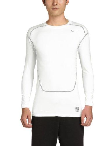 NIKE - Camiseta de compresión para Hombre, tamaño XXL, Color Gris/Blanco