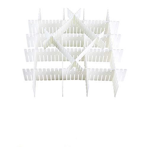 ETSAMOR 12pcs Schubladenteiler Verstellbar Schubladen Trennsystem Fachteiler Weiße Schubladeneinsatz Kunststoff Schranktrenner Ordnungssystem für Schublade Socken Büro Schreibtisch