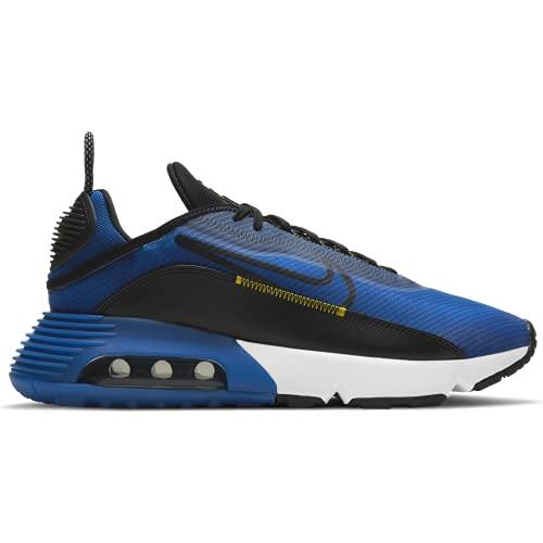 Nike Air MAX 2090, Zapatillas para Correr Hombre, Hyper Blue Black White Tour Yellow, 43 EU