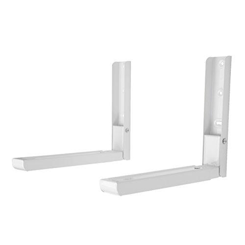 King Premium - Soporte universal para microondas de acero blanco con brazos extensibles, apto para...