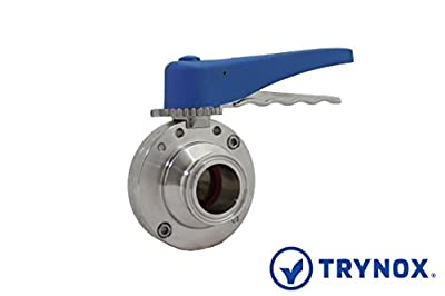 """Trynox Clamp Sanitary Stainless Steel Butterfly Valve EPDM Seal 316L 1.5"""" Tri clamp Sanitary Fitting by Trynox"""