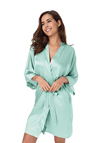 Kimono Peignoir hausmantel Robe de chambre pyjama lingerie de nuit satin