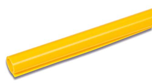 HERMA 7361 Buchschutzfolie nicht klebend (2 m x 40 cm, gelb transparent genarbt) reiß- und wasserfest, aus umweltfreundlicher Polypropylen-Folie für dauerhaftes Einbinden, 1 Rolle