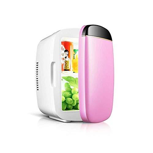 LQRYJDZ Mini portátil compacto Nevera Congelador Nevera refrigerador termoeléctrico y calentador de AC/DC Powered Sistema de 6 litros de gran capacidad (Color : Pink)