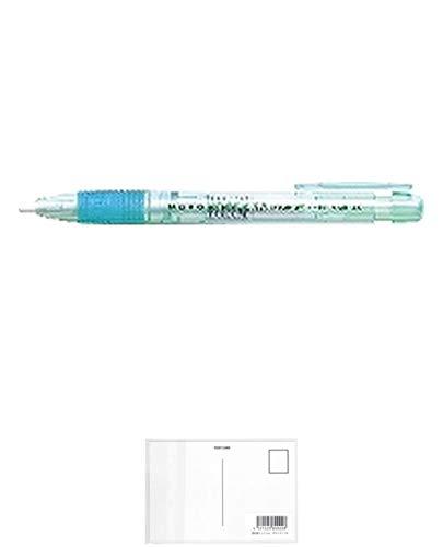 トンボ鉛筆 ホルダー消しゴム モノ3.8 透明グリーン EH-KE60 『 2個』 + 画材屋ドットコム ポストカードA