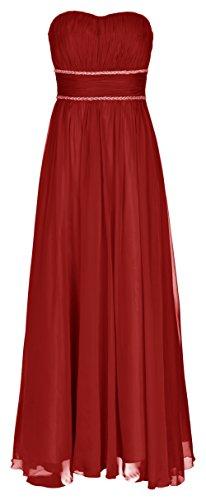 Juju&Christine Abendkleid Ballkleid Festkleid Hochzeitskleid Chiffon Rot 1512 (48)