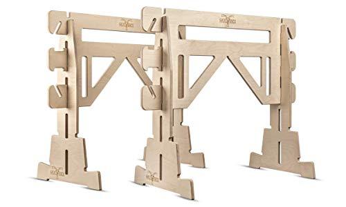 MULTIBEX® Arbeitsbock universell | 100% Birke Multiplex | Multifunktionaler Montagebock (1 Paar)