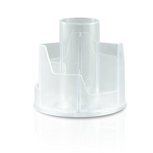 N&BF Feilenbox/Pinselbox Rund   Aufbewahrungs-Behälter für Nagelfeilen, Pinsel und Schminkpinsel   Hygienebox für Nailart und Nageldesign Werkzeuge   Arbeitsmaterial Halter