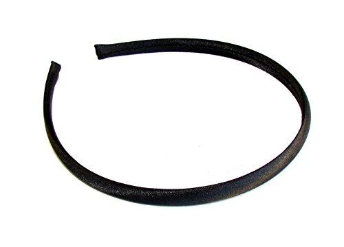 Femme Filles 1 cm simple en satin fin bandeau/bandeau – noir