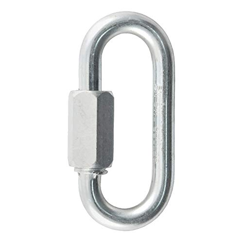 CURT 82610 Threaded Quick Link Trailer Safety Chain Hook Carabiner Clip, 1/4-Inch Diameter, 4,400 lbs Break Strength