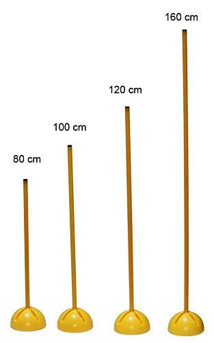 Boje Sport Slalomstange mit X-Standfuß, Stange 100 cm - Farbe: gelb