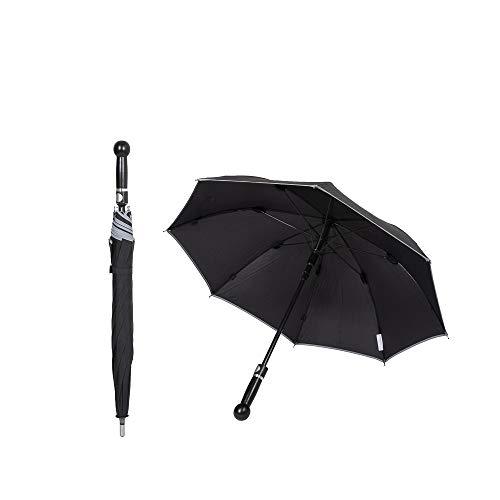 Sicherheitsschirm kurz mit gratis Videokurs | Sicherheits Verteidigungs Schirm | Regenschirm zur Abwehr Selbstverteidigung | Unzerbrechlicher Security Defense Umbrella