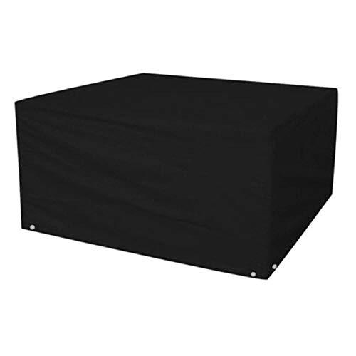 Logei® Couverture Meubles de jardin Couvrant des meubles Housse de protection de couverture pour les tables de jardin ensembles de meubles rectangulaires, noir, 213 x 132 x 74cm