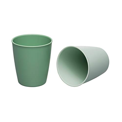 nip Eat Green öko Trinkbecher Kinder & Baby ab 12 Monaten: Ohne Melamin, für Mikrowelle & Spülmaschine, 2 Stück, grün