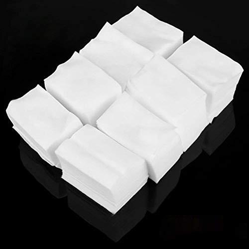 900 Algodón Celuloso Toallitas Limpiador Uñas Blanco