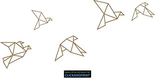 CLICKANDPRINT Aufkleber » Papiervögel/Origami, 70x31,2cm, Kupfer • Wandtattoo/Wandaufkleber/Wandsticker/Wanddeko/Vinyl