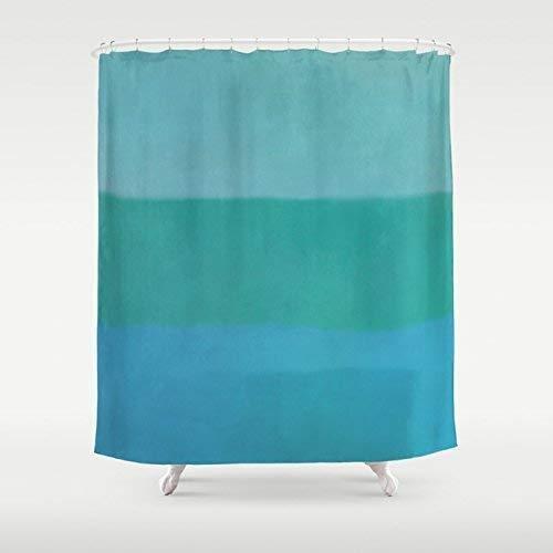 Photo ArtShower Curtain   Green Stripe Custom Shower Curtain   Modern Bath Decor   New Home Gift   Shower Curtain & Bath Mat Set