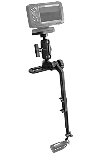 Kayak/SUP Transducer Mounting Arm with Marine Electronics Fish Finder Base Adapter Ball Mount, Compatible with Scotty, Lowrance, Garmin Fish Finder
