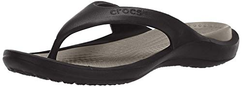 crocs Athens Flip Flop, Black/Smoke, 9 US Men / 11 US Women