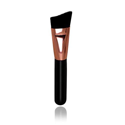 Pinceau De Maquillage Tête Oblique Maquillage Brosse Laine Poignée Top Fondation Brosse Cosmétique Animal Poils Doux Beauté Maquillage Brosse 1 Pc
