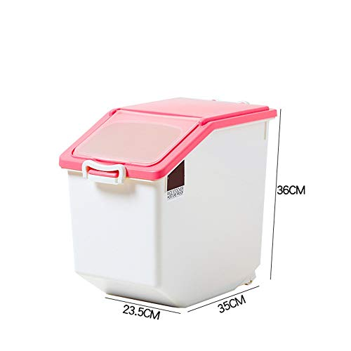 Best Bargain Rice Storage Container Cereal Storage Container 15 KG,Moistureproof Airtight Rice Conta...