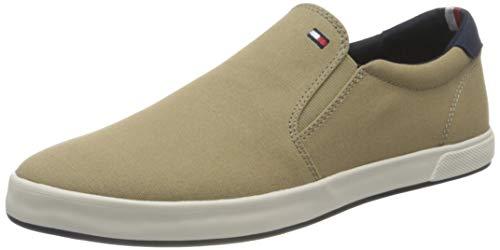 Tommy Hilfiger Iconic Slip On Sneaker, Scarpe da Ginnastica Basse Uomo, Cammello, 42 EU