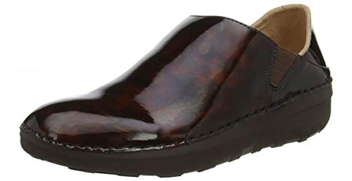 FitFlop Women's SUPERLOAFER Tortoiseshell Loafer, Chocolate Brown Turtle, 6 M US