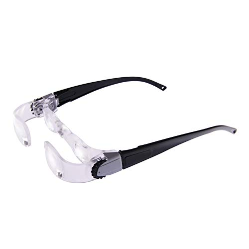 TV Magnifying Glasses 2.1X TV Glasses Distance Viewing Television Magnifying Goggles Magnifier Magnifying Glasses Headband Magnifier Headset Magnification Glasses Fishing Telescope Glasses