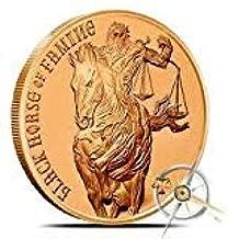 Jig Pro Shop Four Horsemen of The Apocalypse Series 1 oz .999 Pure Copper Round/Challenge Coin (Black Horse of Famine)