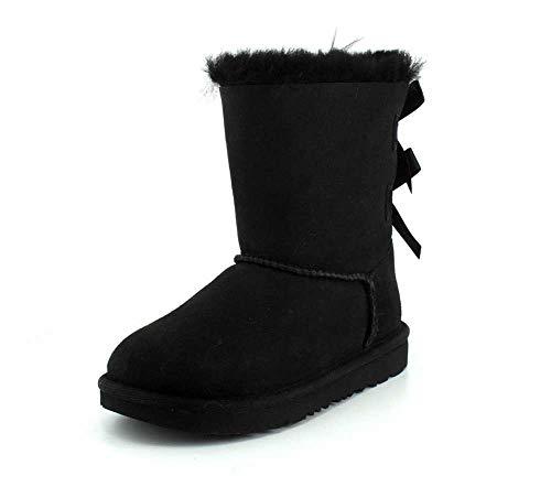 UGG Mädchen K Bailey Bow II Mode-Stiefel, Black, 32.5 EU