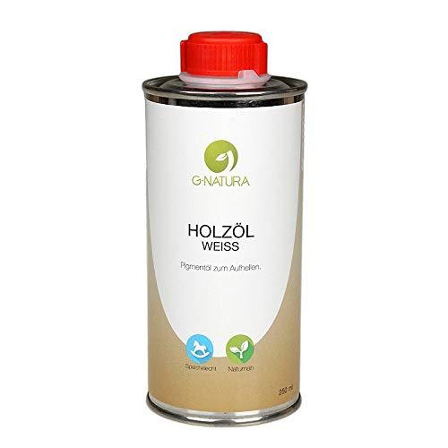 G-NATURA Pigmentöl zum Färben von Holz in natürlichen Farbtönen – verschiedene Farben (250 ml, Weiß)