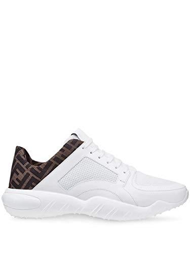 FENDI Luxury Fashion Herren 7E1304A9SAF150F Weiss Leder Sneakers   Frühling Sommer 20
