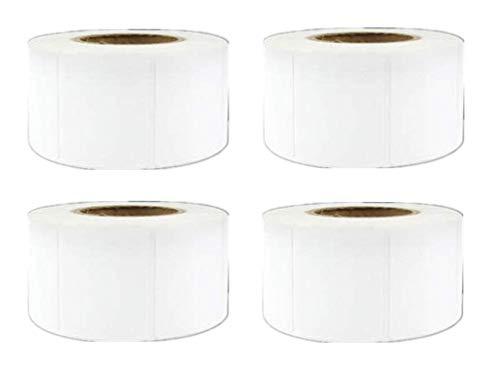 4 Rollos 3200 piezas etiquetas 40 mm x 30 mm adhesivo térmico papel de etiqueta de precio de supermercado en blanco Etiqueta de impresión directa impermeable