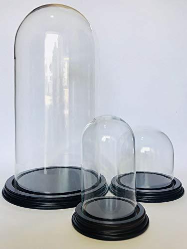 Euro Glass Angelo Campana di Vetro Misura 25 x 50 Completa di Base Cupole in Vetro soffiato