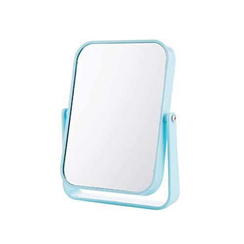 Decorative mirror-QFF Miroir de maquillage double face, bureau multifonction en plastique Princess 360 degrés Flip Creative Square Beauty Mirror Dress
