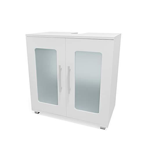 Vicco Mobile sottolavabo Rayk Armadietto per lavandino bagno bianco