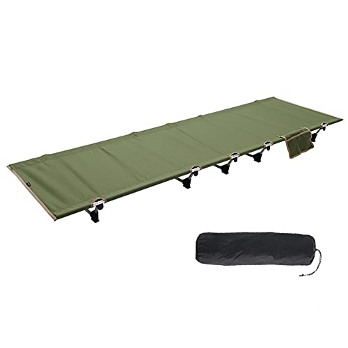 Kompaktes klappbett aus vollaluminium,Campingbett Feldbett Tragbares Faltbares Bett Sonnenliege im Freien mit Seitentasche,leichtes Schlafsofa für Zelten, Camping, Wandern, Trekking, Rucksackreisen