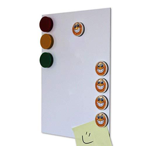 Smagtron pantalla Lámina de hierro autoadhesiva con revestimiento blanco, 3stk. Homedeco-24–Din A4, revestimiento antiadherente lado blanco, Flexible Para Imanes. neodimio