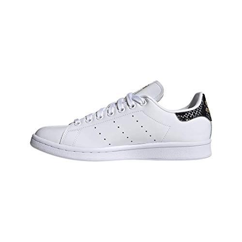 adidas Originals Damen Stan Smith Turnschuh, Schuhe White/Core Black/Gold Metallic, 35.5 EU